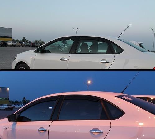 До и после установки каркасных автошторок